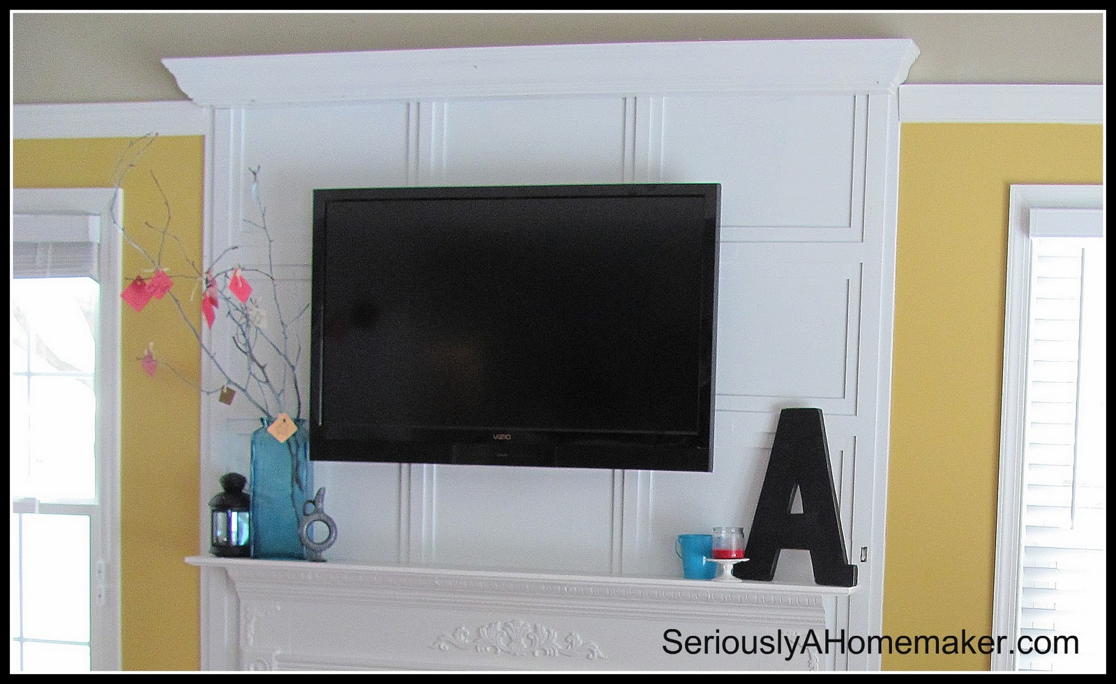How To Hide Tv Cords In Trim Work Sawdust Girl