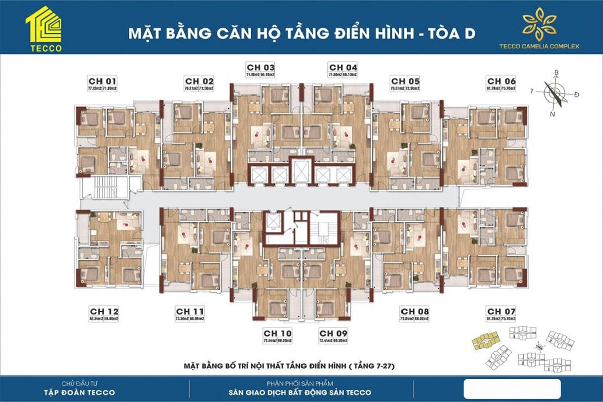 Mặt bằng Chung cư Tecco Complex