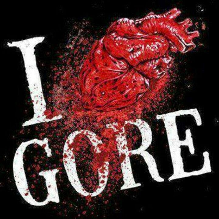 I Love Gore artwork. Bloody heart!
