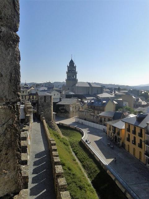 Castillo Templario de Ponferrada, vista cuidad
