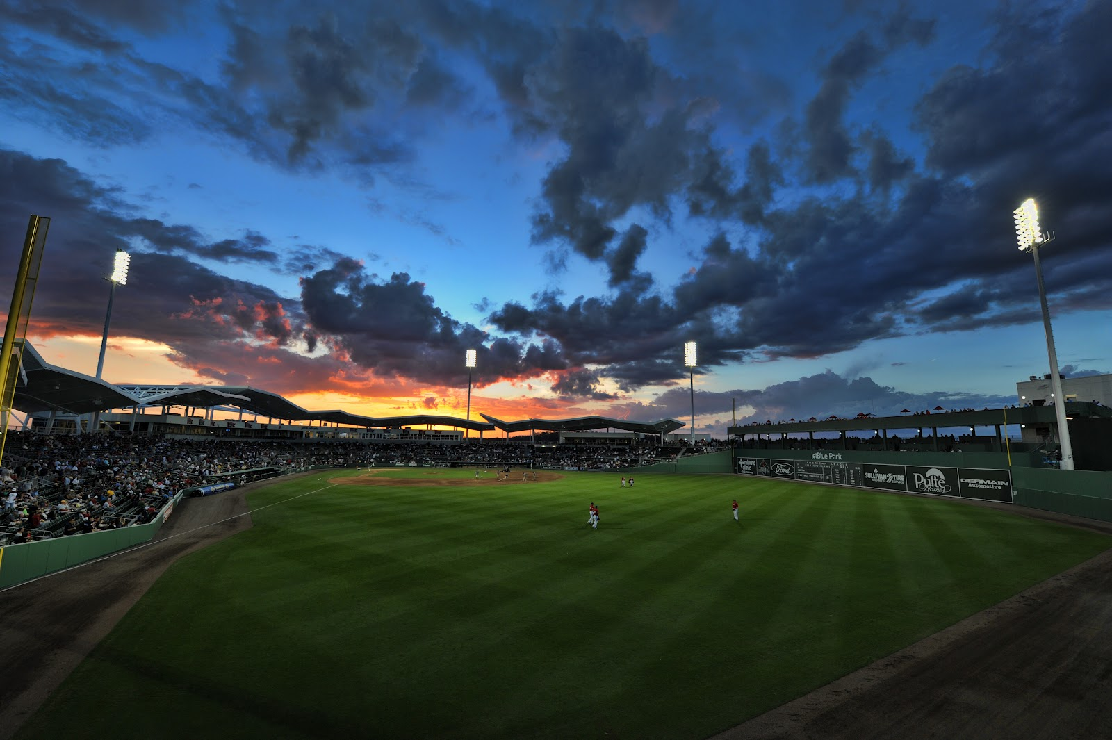 Ivins Images Blog: Sunset Over jetBlue Park