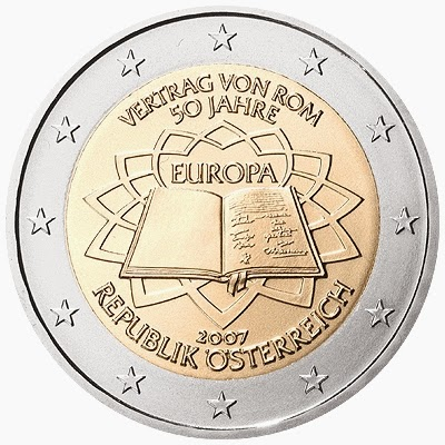 2 euro coins Austria 2007, Treaty of Rome