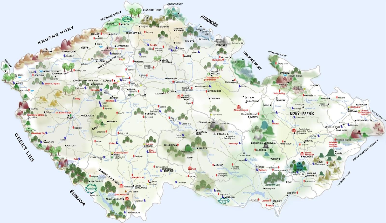 Mapa Mapa Hory
