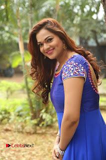 Actress Ashwini Stills in Blue Chudidar at Ameerpet Lo Release Press Meet  0085.JPG