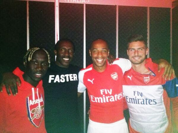 Leaked picture: Thierry Henry wearing next season's Arsenal Puma kit