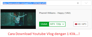 Cara Download Youtube Vlog dengan 1 Klik...!
