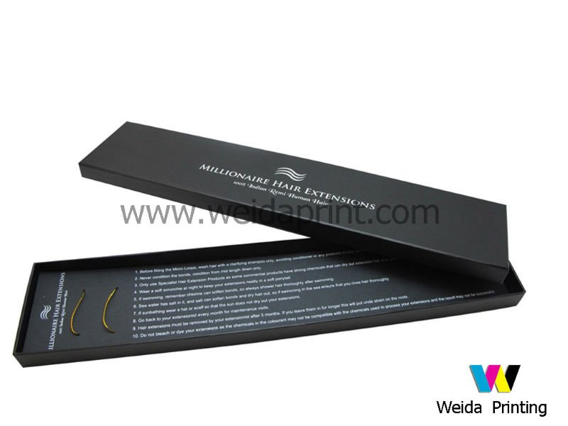 Custom Packaging Boxes Foldable Hair Extension Boxes Offers