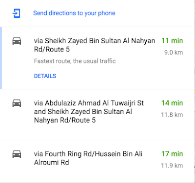 other suggested routes by google maps. may longer or may avoiding some highways