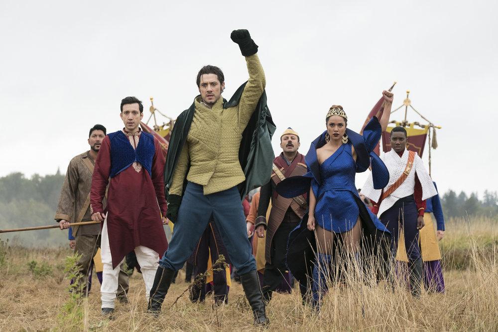 Escena músical de la serie The Magicians