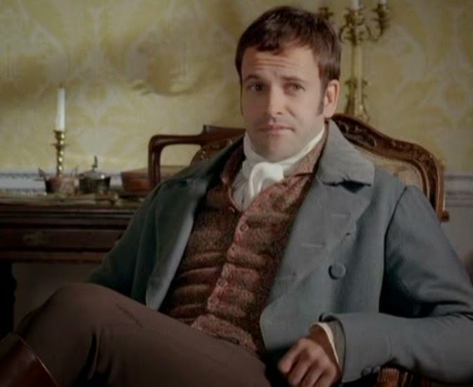 Jonny Lee Miller as Mr Knightley, looking unimpressed
