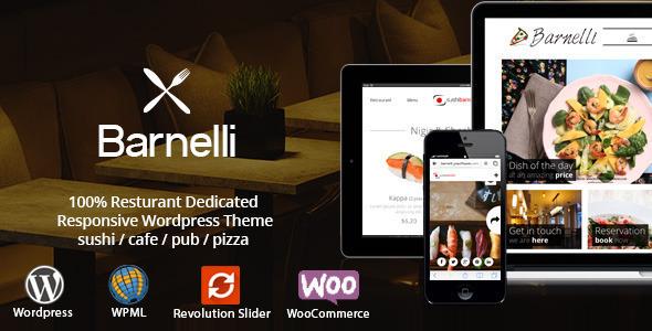 Barnelli - Restaurant Responsive Wordpress Theme