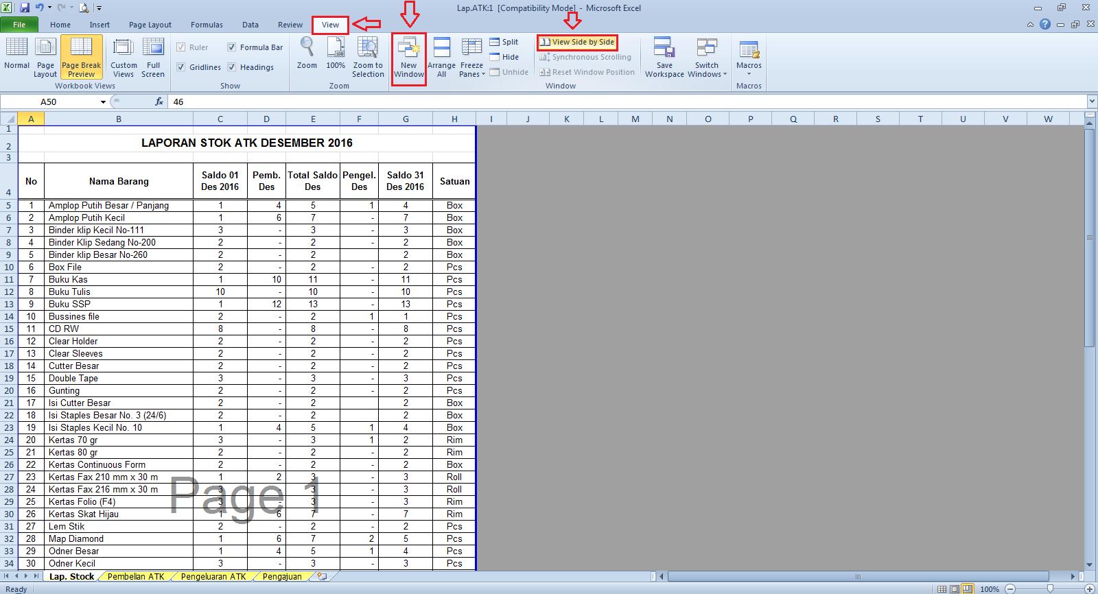 Cara Menampilkan Dua Sheet Dalam Satu File Excel Yumepro