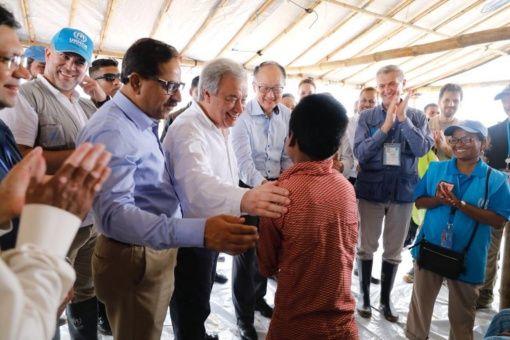ONU destaca solidaridad de Bangladés con refugiados rohinyás
