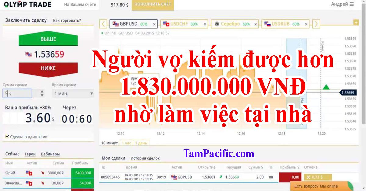 Người vợ kiếm được hơn 1.830.000.000 VNĐ nhờ làm việc tại nhà