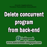 Delete concurrent program from back-end, AskHareesh.blogspot.com