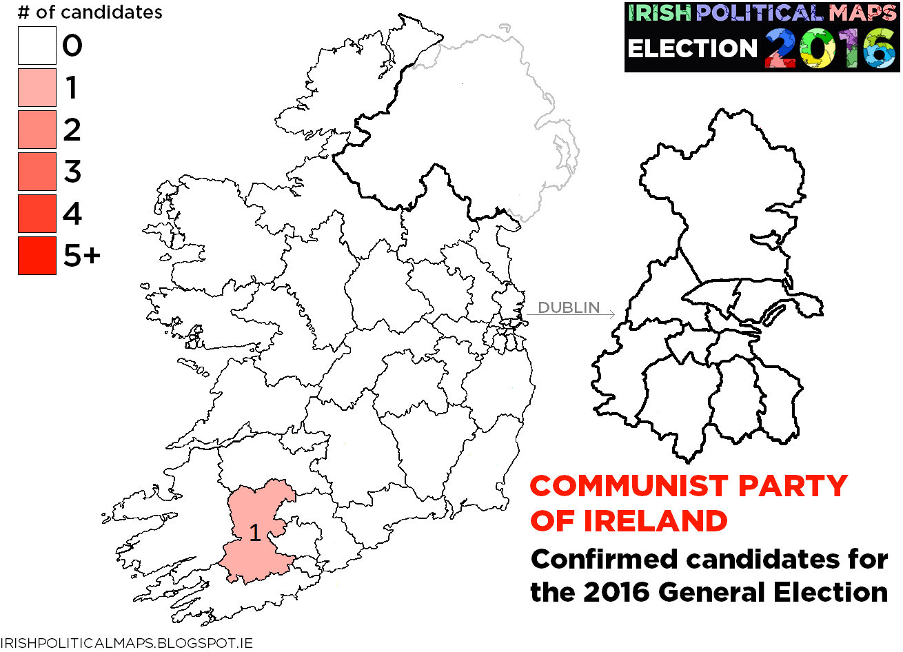 Irish Political Maps Confirmed Candidates For The General - Ireland political map
