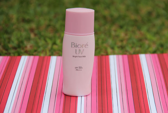 Review Kem Chống Nắng Biore UV Bright Face Milk SPF50 Sáng Hồng, biore, kem chống nắng, kem chống nắng biore, biore sáng hồng