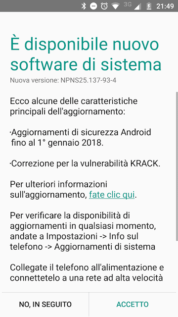 Moto G5 Plus January 2018 patches