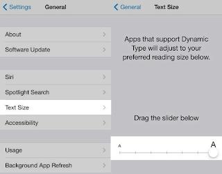 Cara Perbesar Ukuran Huruf Aplikasi iPhone iPad