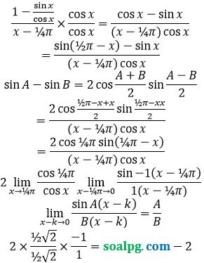 bahas limit trigonometri mendekati phi