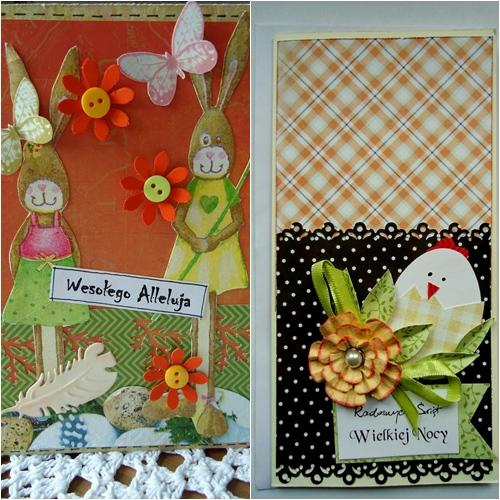 kartki z króliczkami handmade