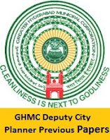 GHMC Deputy City Planner Previous Papers