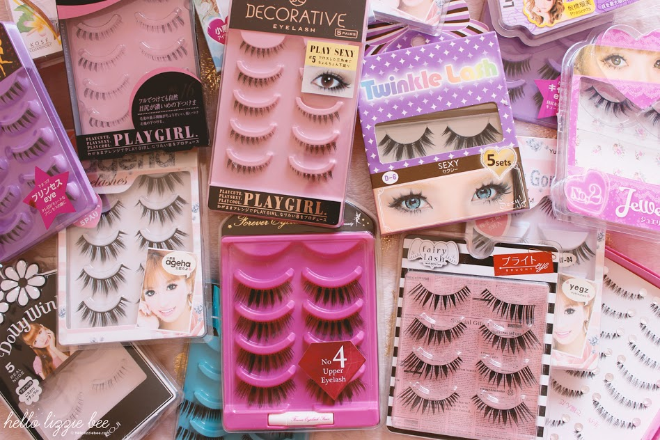 false lashes collection, japanese lashes, gyaru lashes