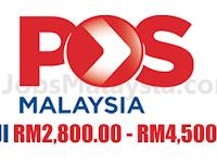 Pos Malaysia Berhad - Gaji RM2,800 - RM4,500
