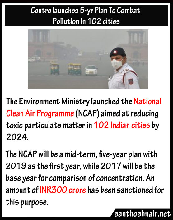 Centre launches 5 yrs plan to Combat pollution in 102 cities