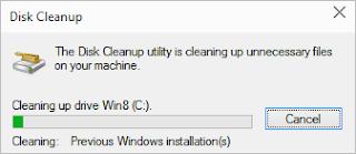 حذف الملفات المؤقتة وملفات التحديث من windows 10
