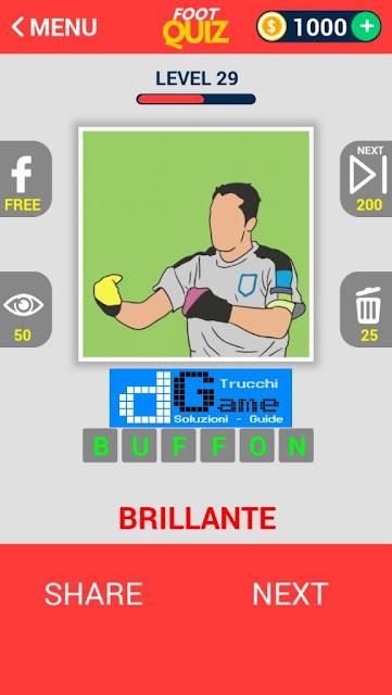 FootQuiz Calcio Quiz Football ( EURO 2016) soluzione livello 21-30