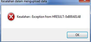 Exception from HRESULT