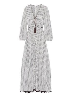 Легкое платье макси в стиле бохо богемный шик