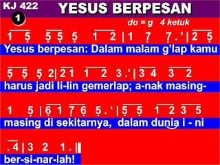 Lirik dan Not Kidung Jemaat 422 Yesus Berpesan