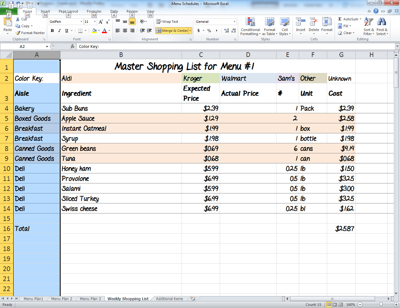a work in progress  menu plan monday  the ultimate grocery shopping list