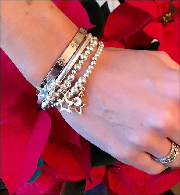 My Midlife Fashion, Olia Jewellery May Stars Bracelet, cartier love bangle