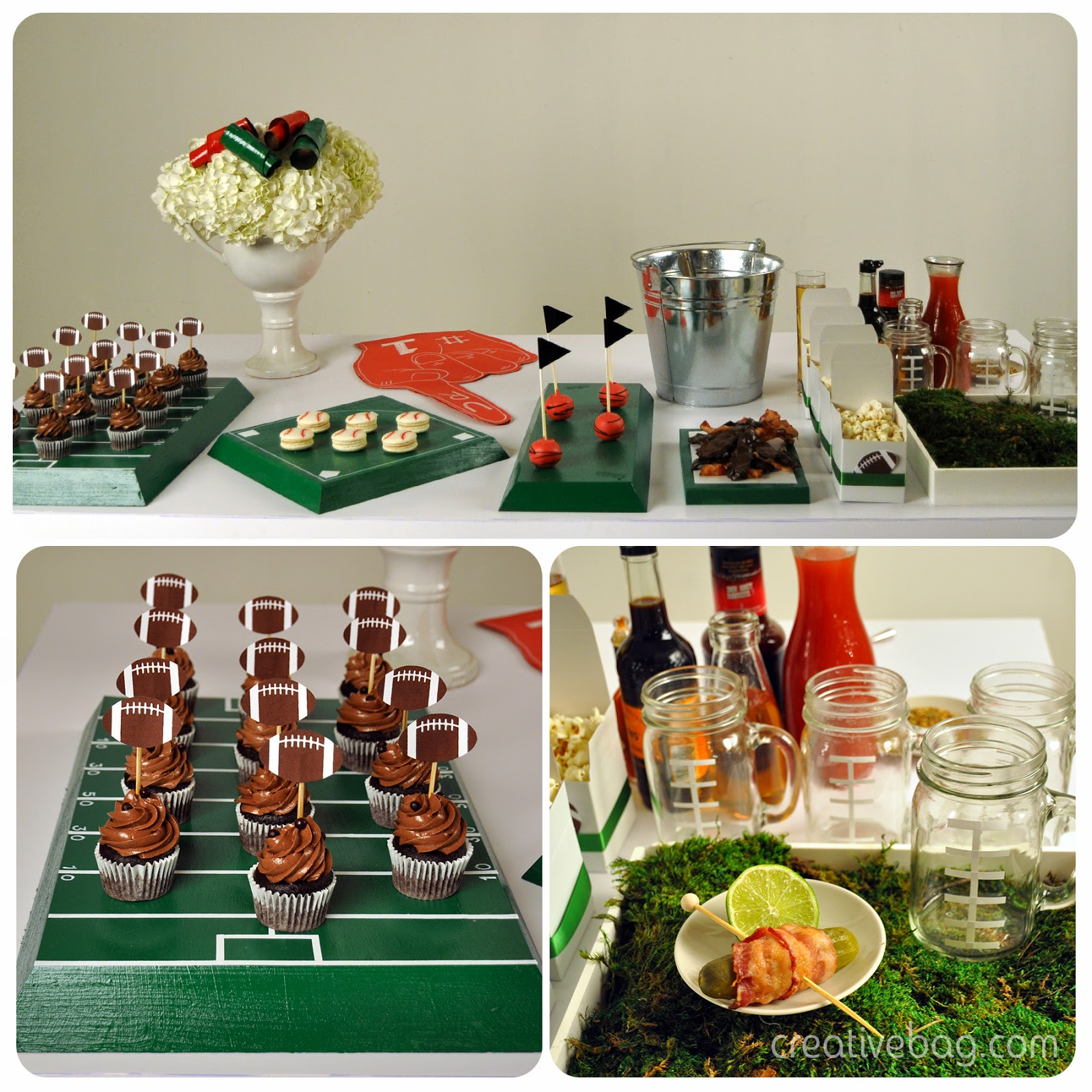 Tailgate party sweet table inspiration | Creative Bag and Petite & Sweet