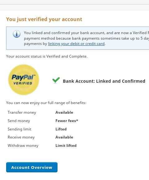 PayPal pending balance