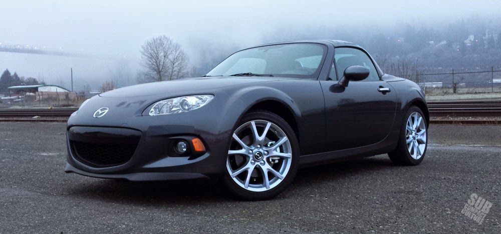 2015 Mazda MX-5 Miata in cold Portland, Oregon