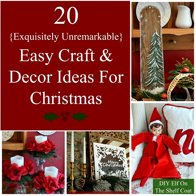 20 Easy Craft and Decor Ideas For Christmas pin