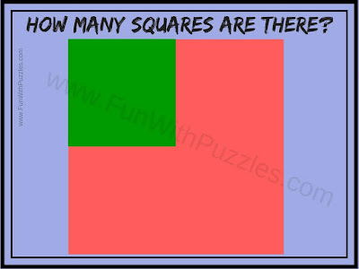 How many Squares Puzzle Question
