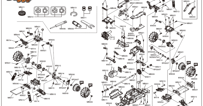 KYOSHOSAN: Mini-Z Buggy Exploded View