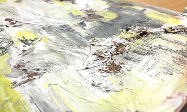 art journal entry - Texture - Jan-27-2019 texture detail