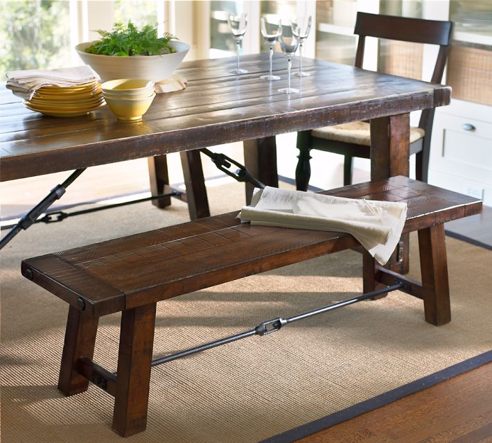 Copy Cat Chic Pottery Barn Benchwright Fixed Dining Room