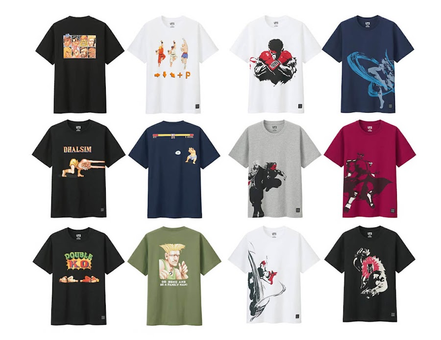 street fighter 5 t shirt capcom x uniqlo