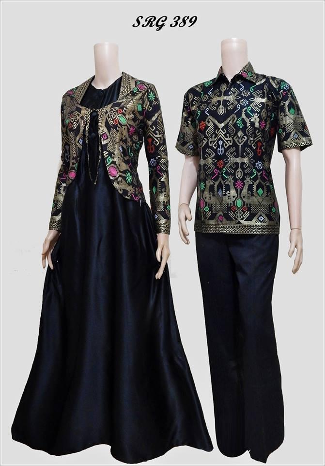 baju batik gamis model bolero srg 389