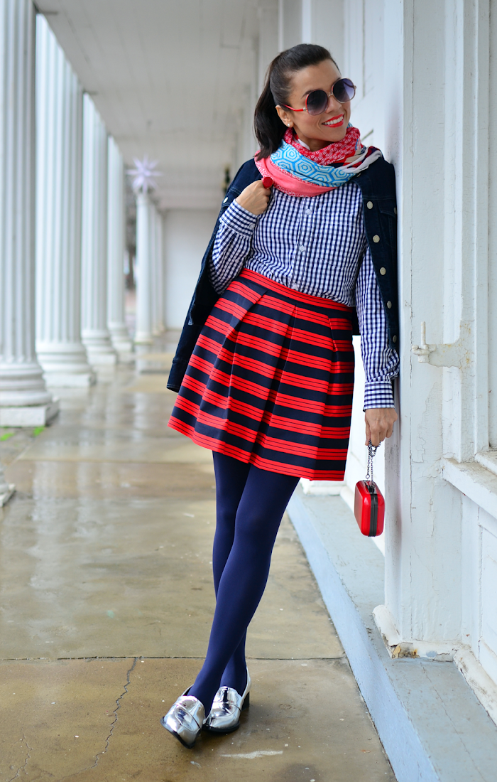 Red white and blue street style