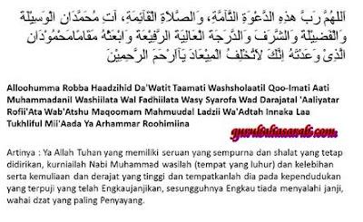 Do'a Setelah Azan dengan Bahasa Arab dan Artinya