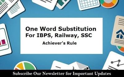 Expected One Word Substitution - Vocabulary Builder