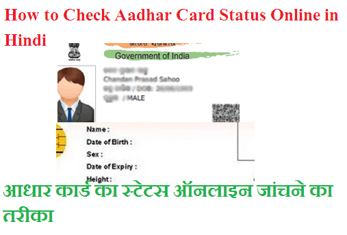 How to Check Aadhar Card Status Online in Hindi